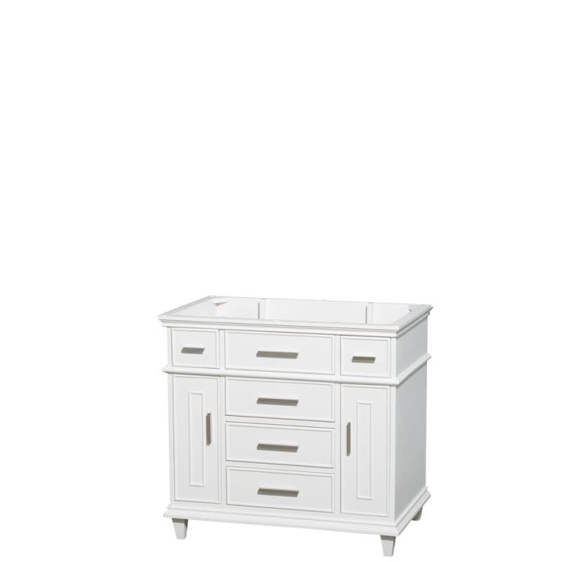 Wyndham Collection Wc171736sglvanwht Berkeley 35 Hardwood Vanity Cabinet Only White Bathroom Storage Vanity Sets Single In 2020 Vanity Cabinet Marble Vanity Tops Single Bathroom Vanity
