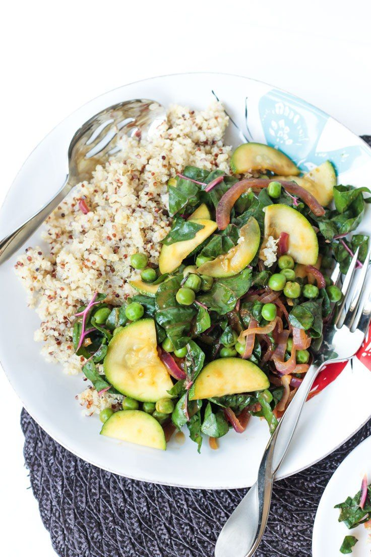 Quinoa with Garden Vegetables - a high protein side dish or light main meal.