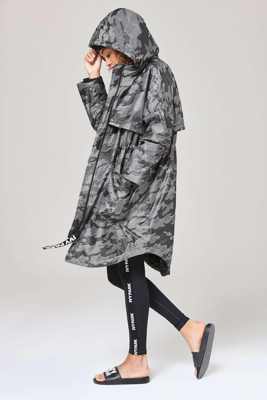 42292f1eb6b8e Camo Jacquard Luxe Parka by Ivy Park - Ivy Park - Clothing ...