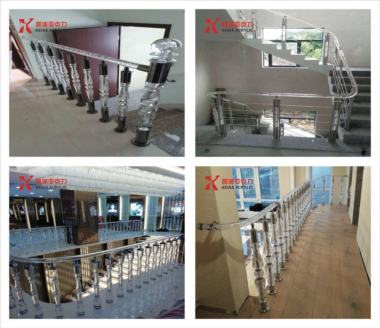 Best Staircase Acrylic Stair Handrail Balustrade Acrylic 400 x 300