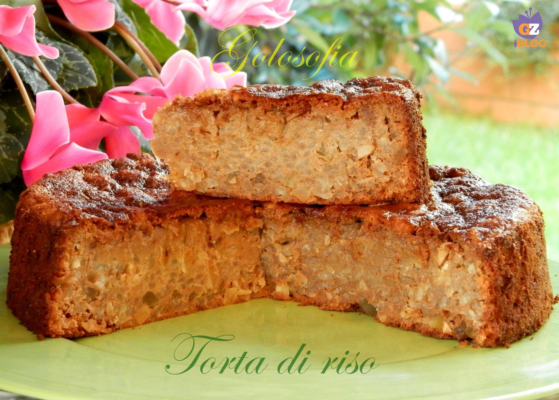 Torta di riso, tipico dolce della tradizione emiliana, in particolare di Bologna. Un dolce ricco a base di riso cotto e tanti ingredienti golosi!