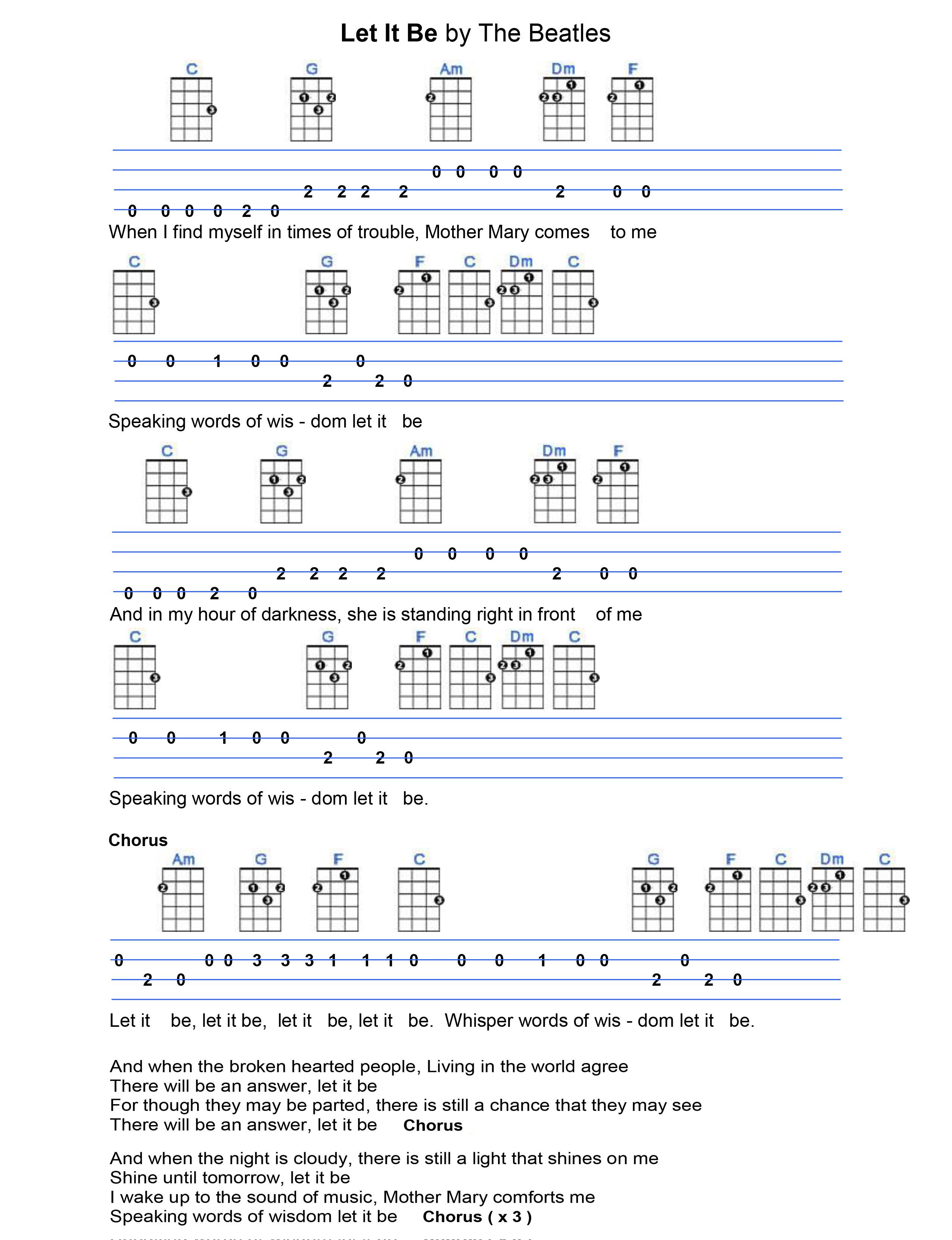 Let It Be Fingerpicking Pattern How To Sing Better And Improve