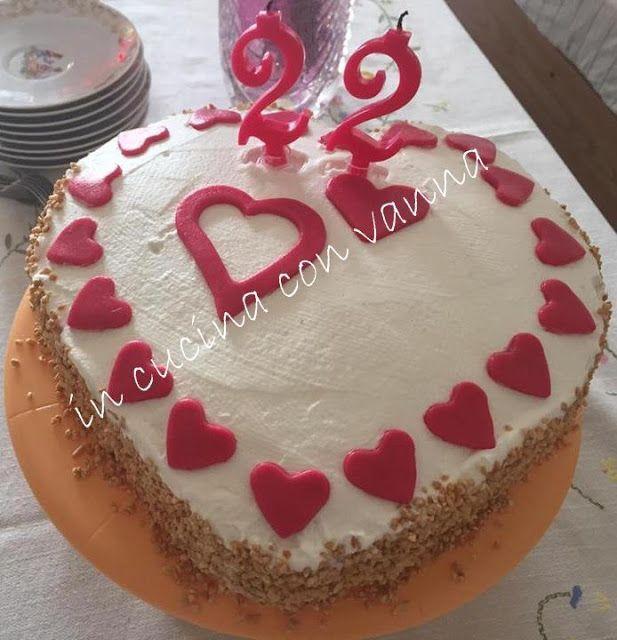in cucina con vanna: Torta per i 22 anni di Valentina: cuore al caffè