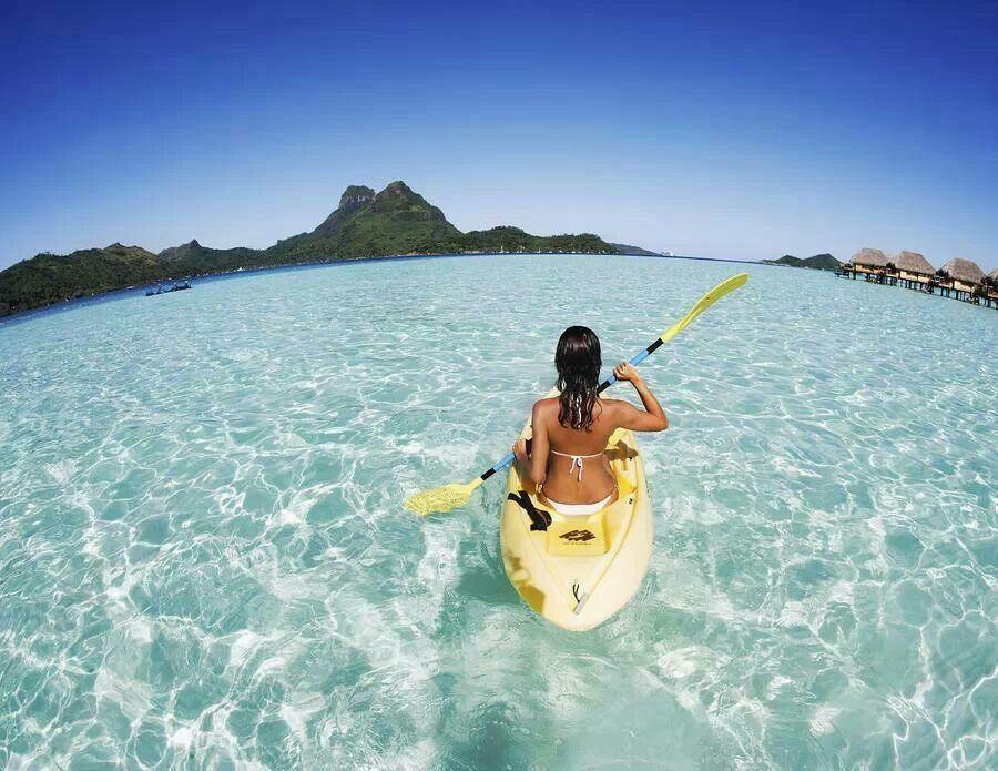 Kayaking in Bora Bora | French polynesia, Bora bora, Outdoors ...