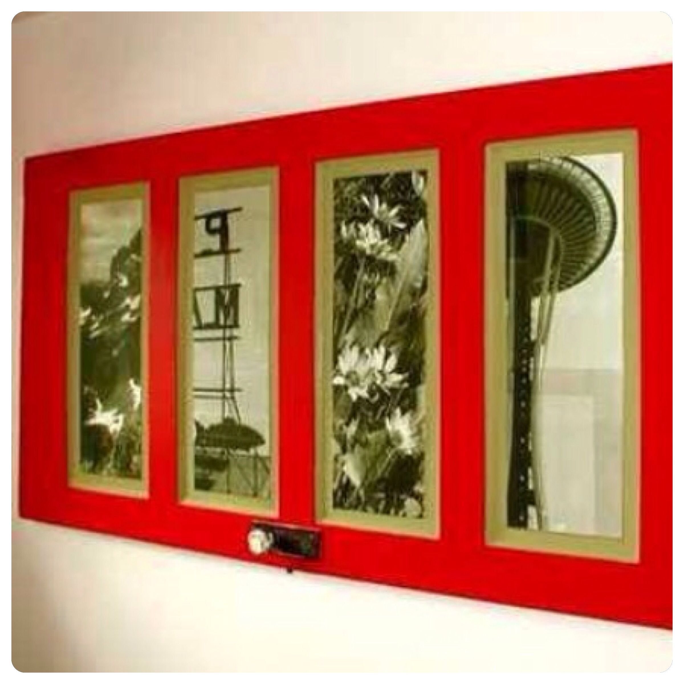 What a great way to repurpose and old door hang your favourite
