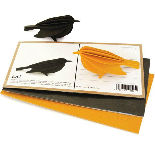 Birch Bird Cards wood postcards birds