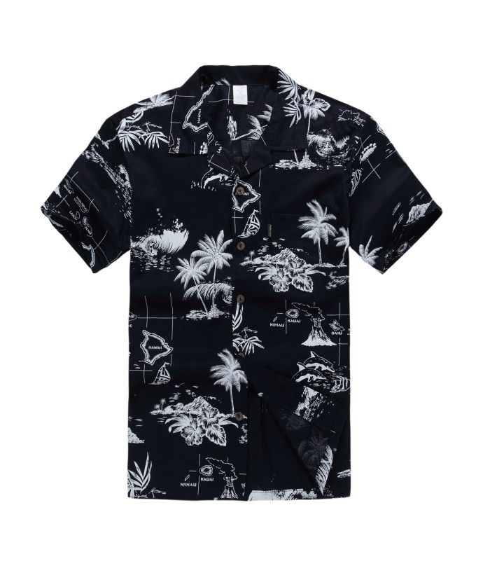 e92727c9 Men Hawaiian Aloha Shirt in Navy Map | Bestseller Hawaiian Shirts ...