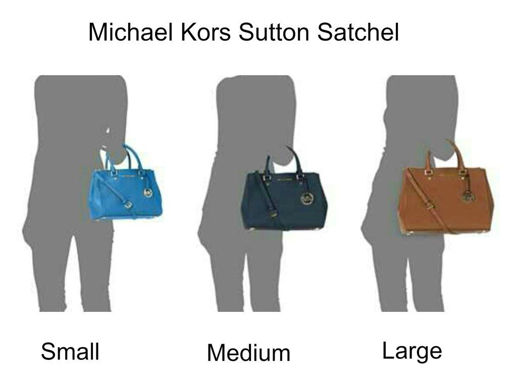 Bag Review Different Sizes of Michael Kors Sutton Satchel (Small, Medium, Large)