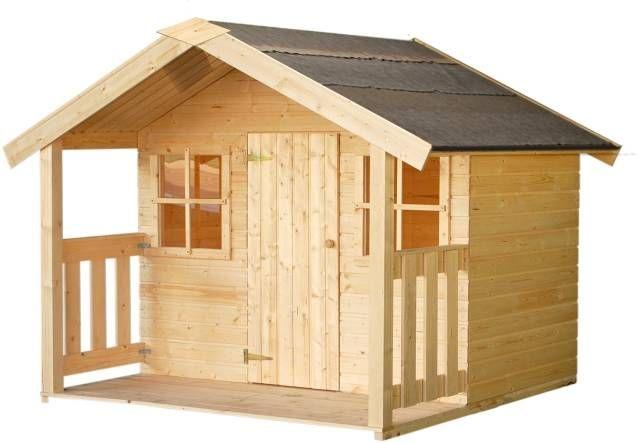 Casitas infantiles felix de madera carpinteria for Casitas ninos baratas