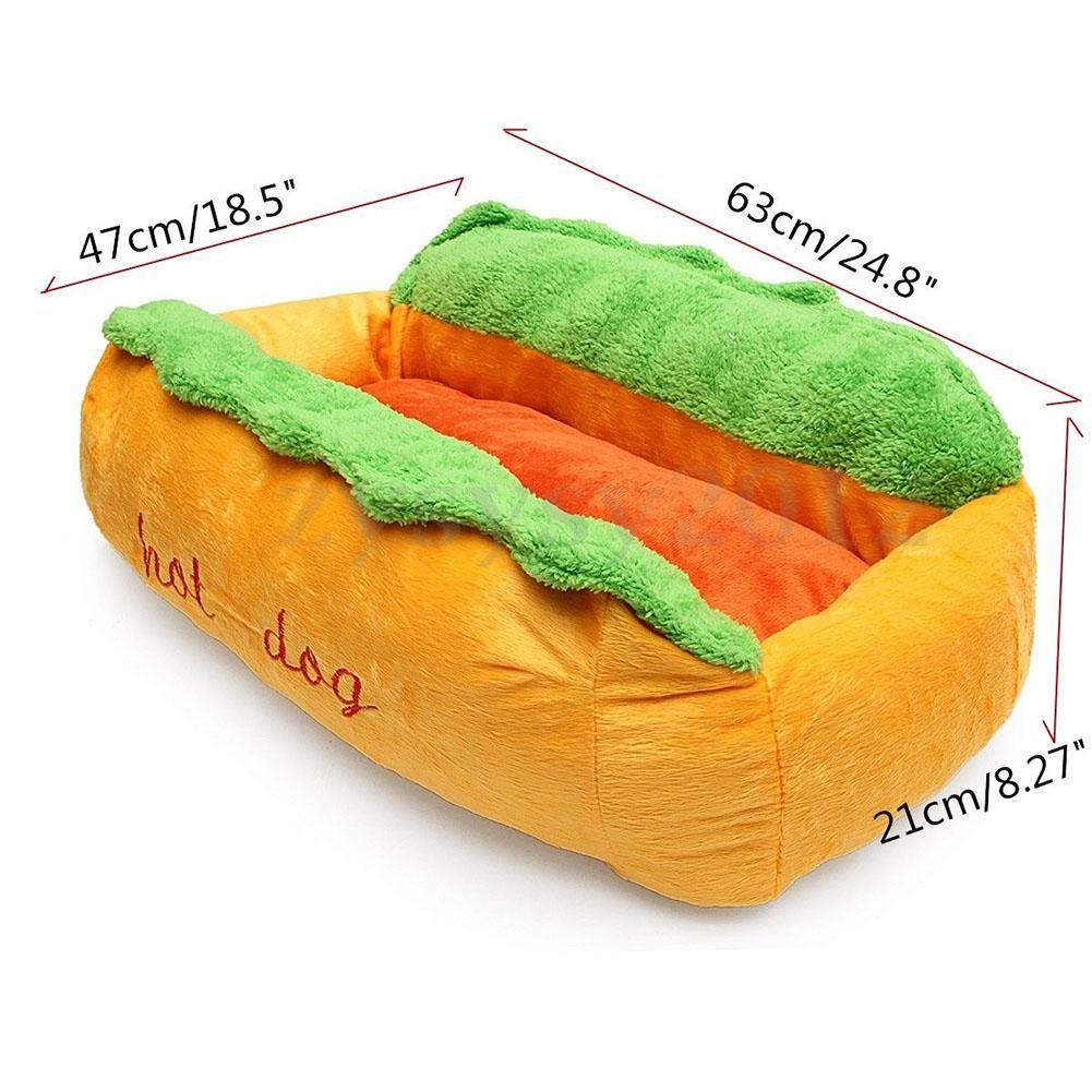 Funny Hot Dog beds HOZZEY Dog sofa bed, Puppy cushion