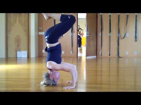 how to do tripod headstand into crow pose  crow pose