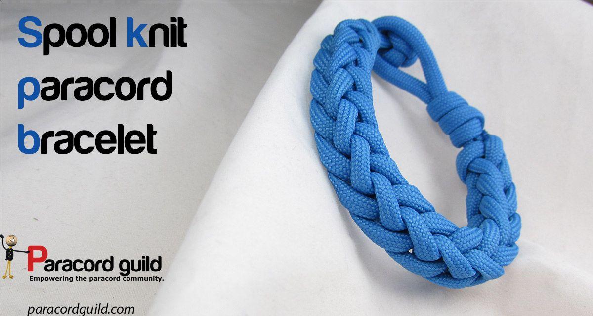 Spool Knit Paracord Bracelet Paracord Bracelets Spool