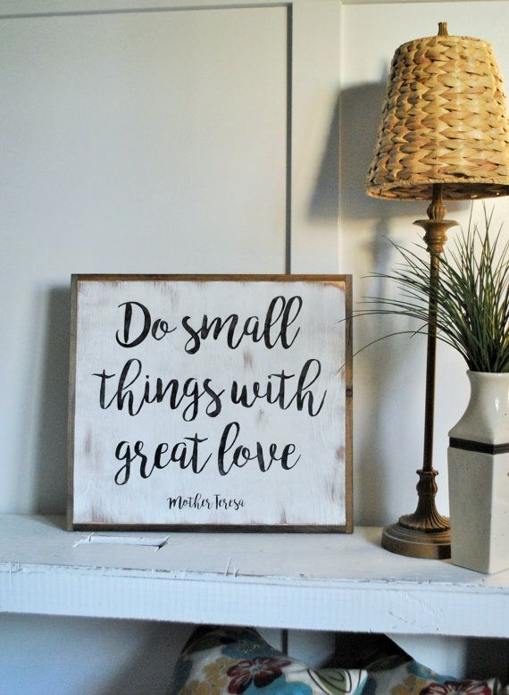 Distressed Wood Wall Decor small things distressed wooden wall art | painted wall decor
