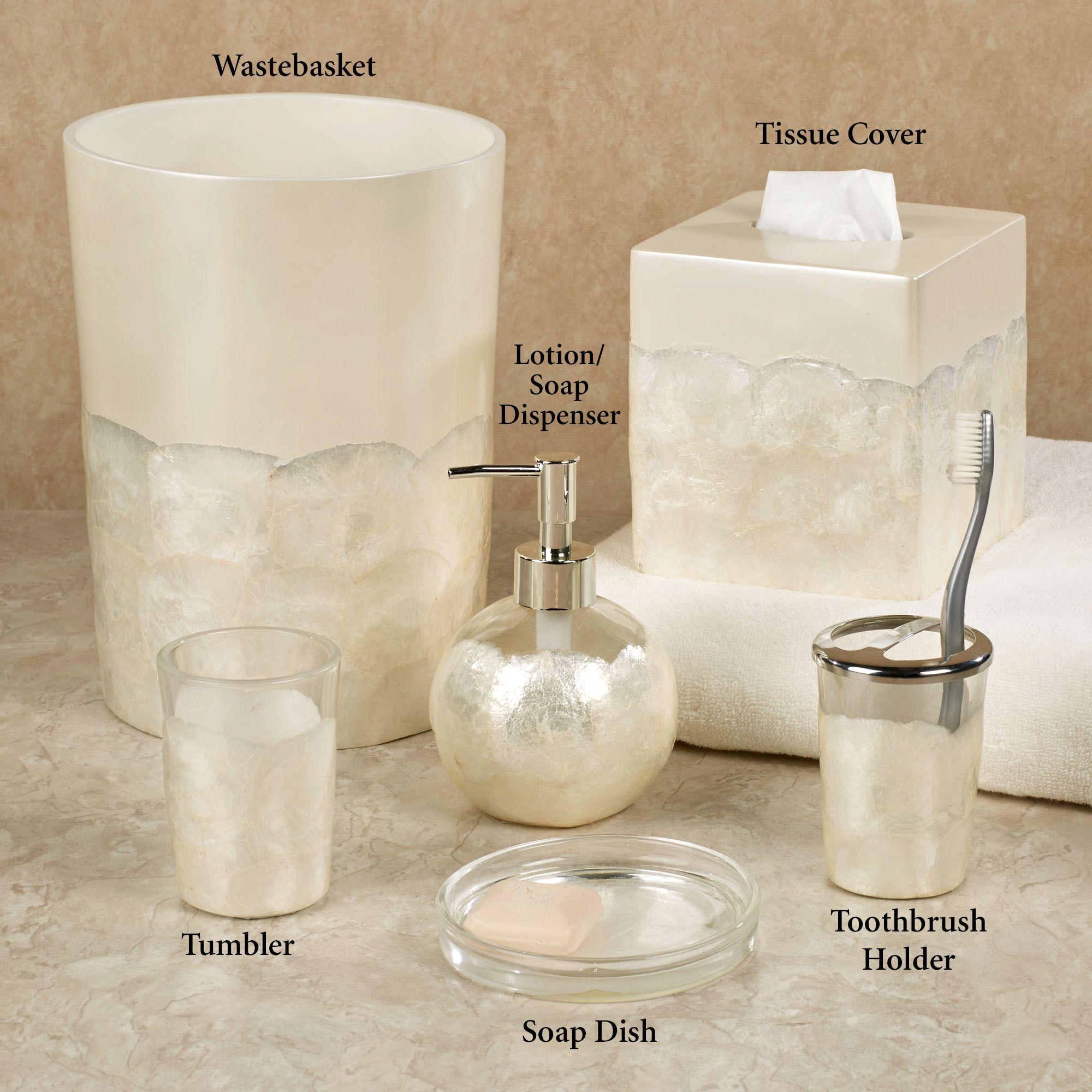 Opal capiz shell bath accessories things i love - Capiz shell bathroom accessories ...