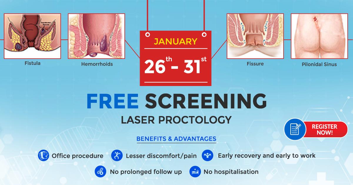 Free Screening For Piles Fistula Fissure Pilonidal Sinus Vgm Gastro Centre Sinusitis Laser Treatment Hemorrhoids
