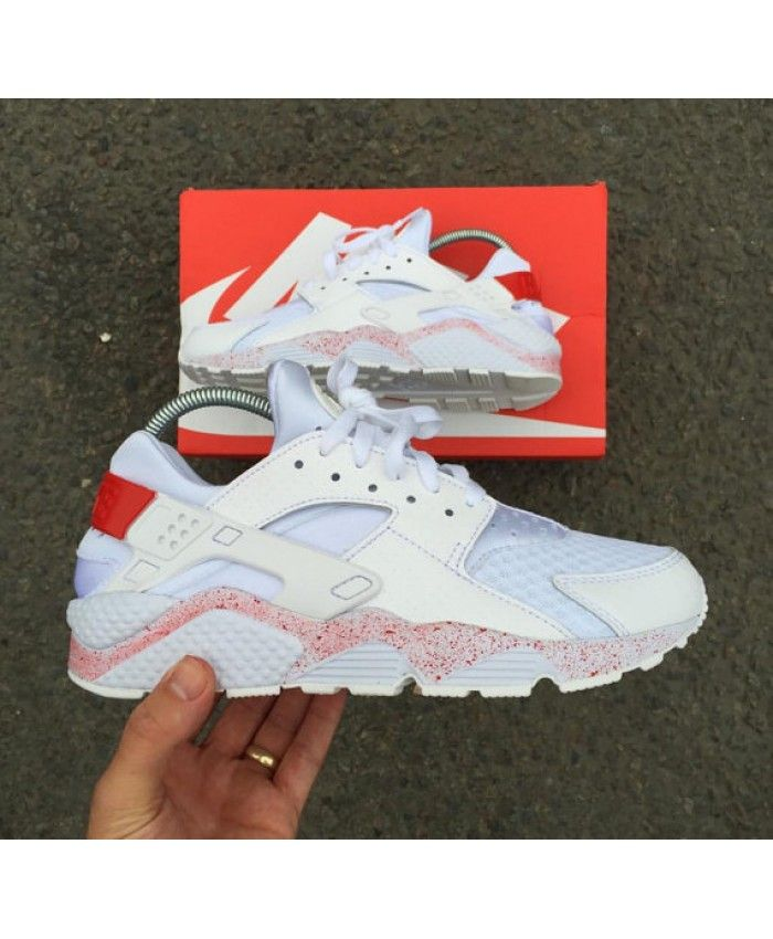 Nike Air Huarache Rxl Custom White With Pink Trainer