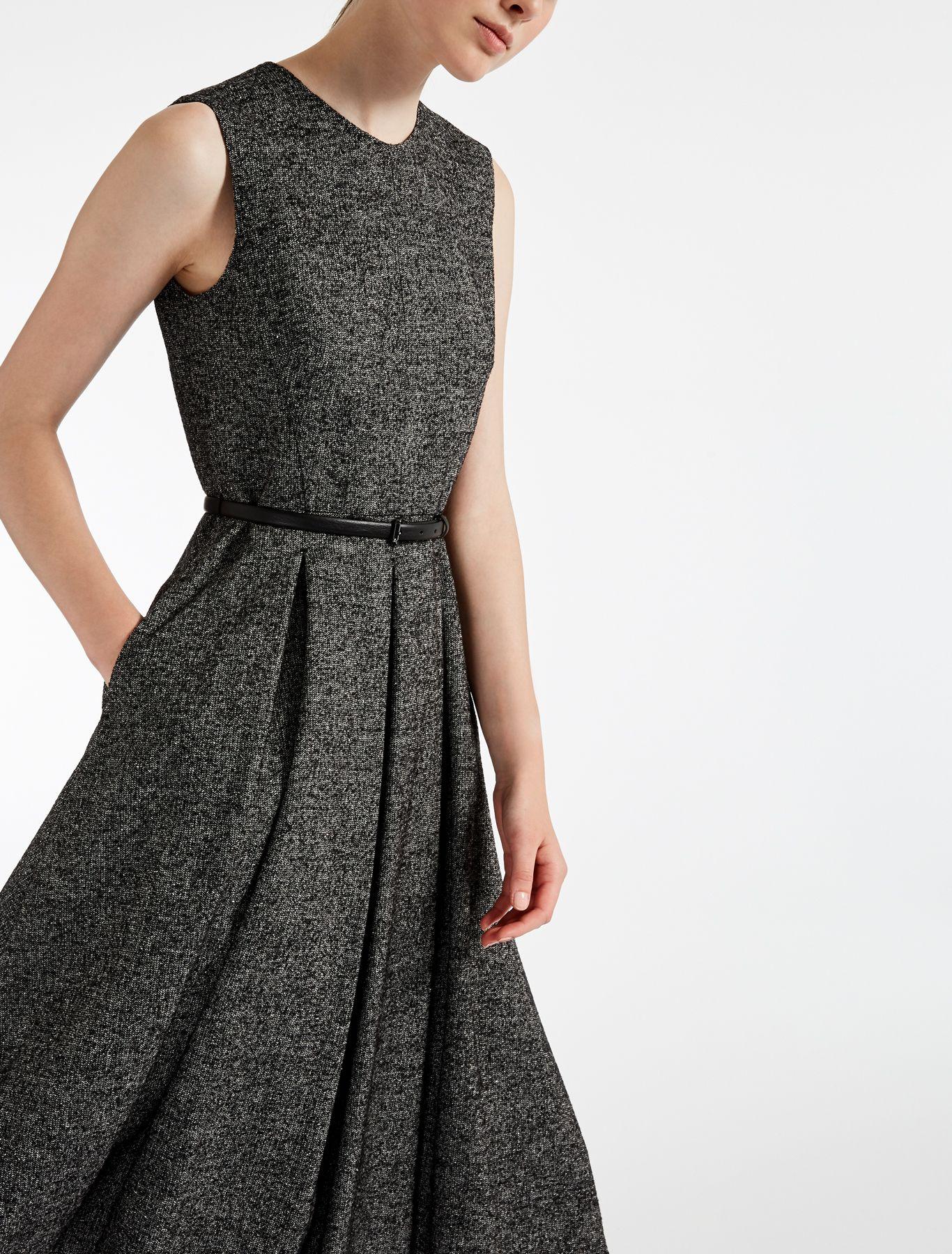online retailer 8d3f2 366ca Abito in tweed di lana, bianco/nero -