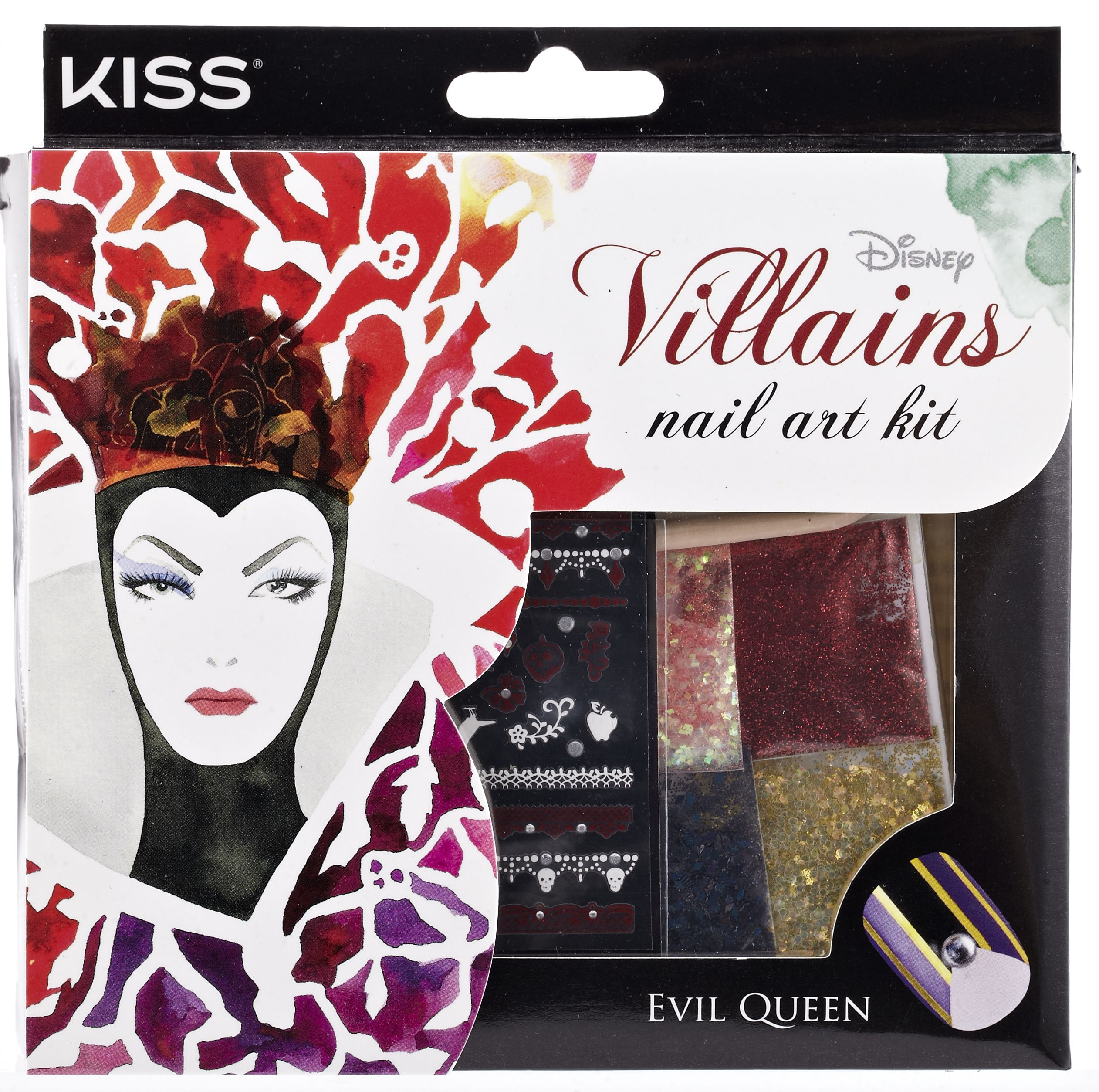 Disney Villains Nail Art Kit By Kiss Evil Queen Disney Villains