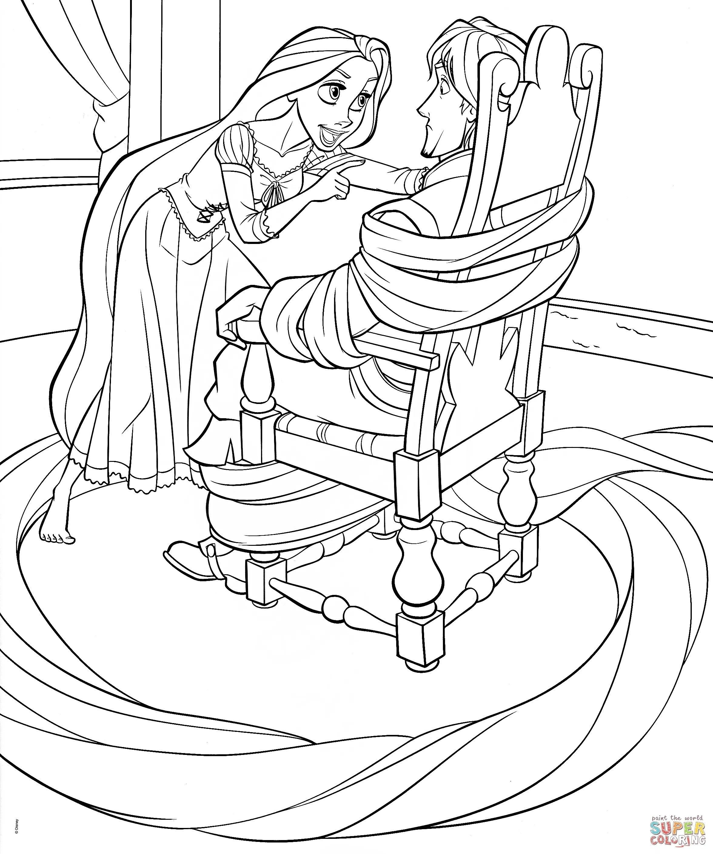 Disney Princess Coloring Pages Rapunzel And Flynn From The Thousand Photos Online Regardi Disney Coloring Pages Tangled Coloring Pages Disney Princess Colors