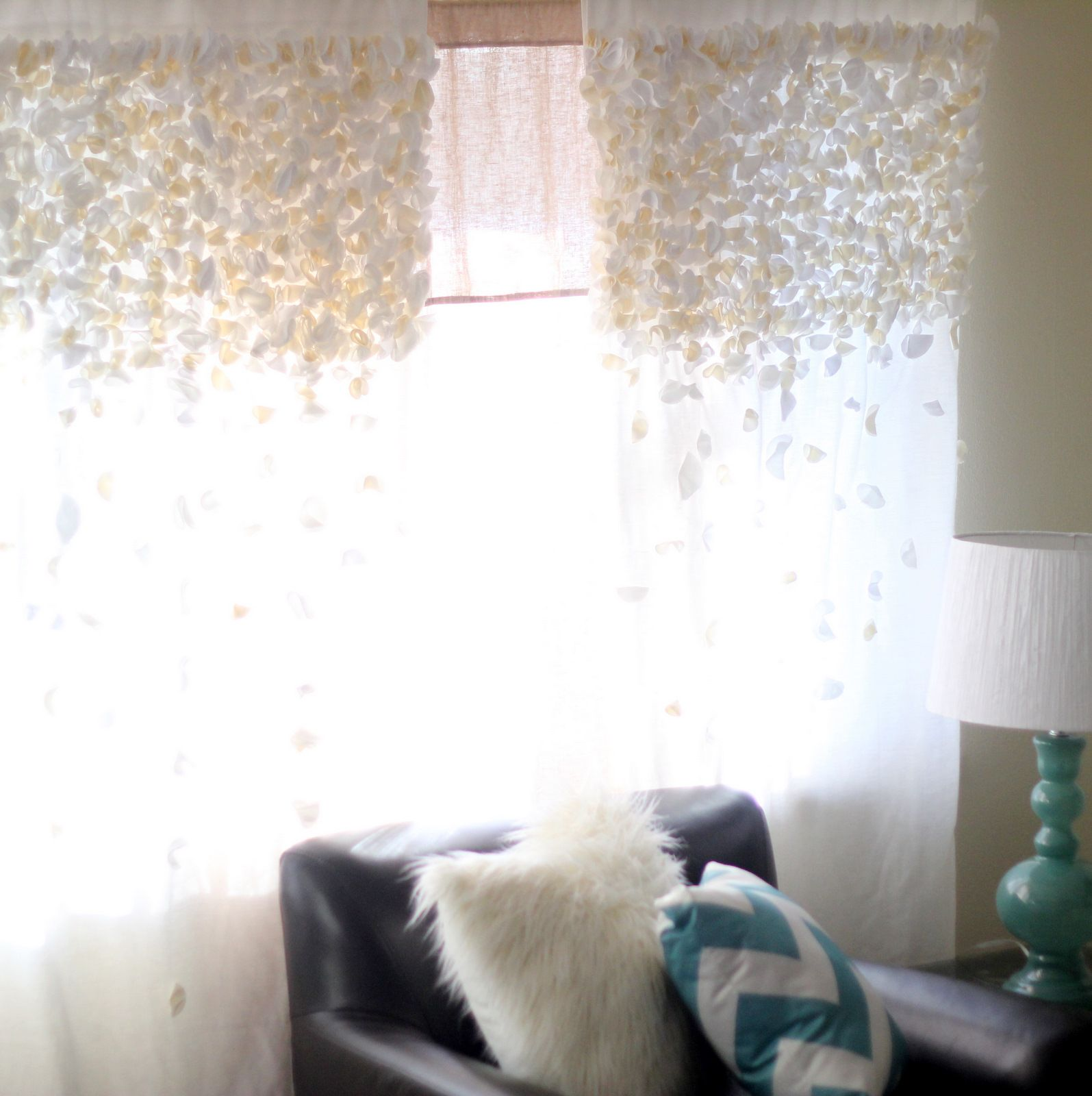 Bathroom Curtain Ideas Diy: Anthro Knock Off Flutter Curtains