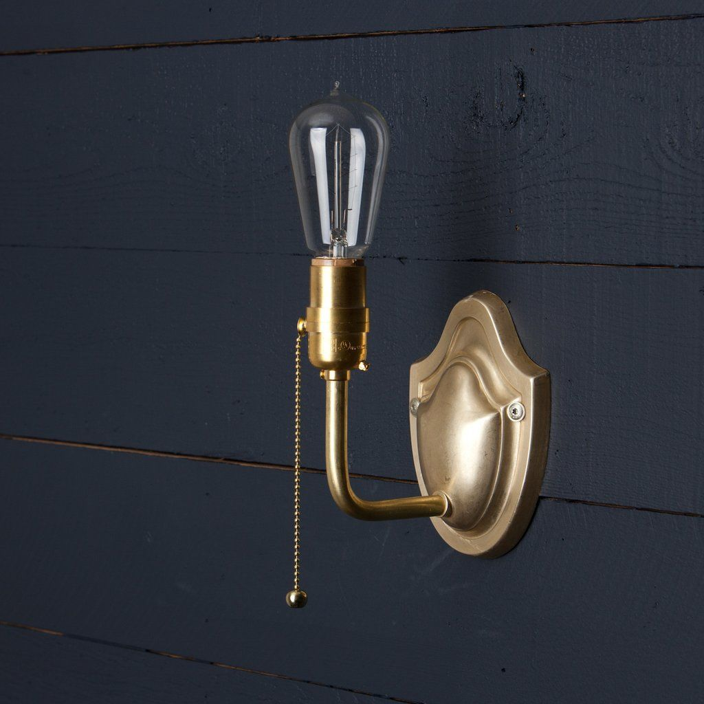Vintage Brass Wall Sconce Pull Chain Brass Wall Sconce Wall Sconces Rustic Candle Wall Sconces