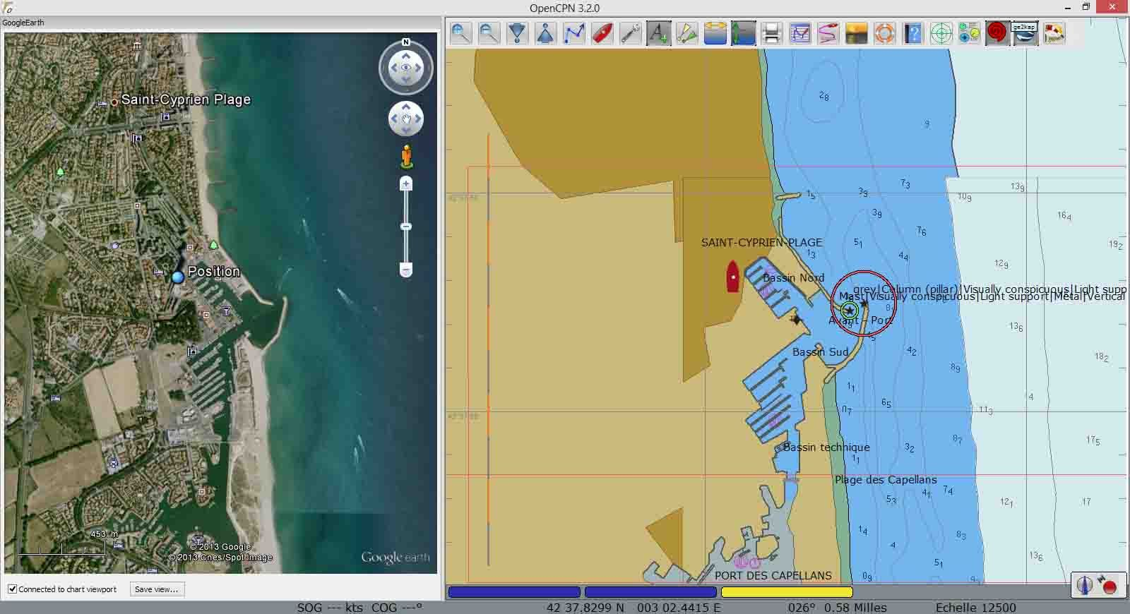 Intégrer Google Earth et Navionics dans OpenCpn avec