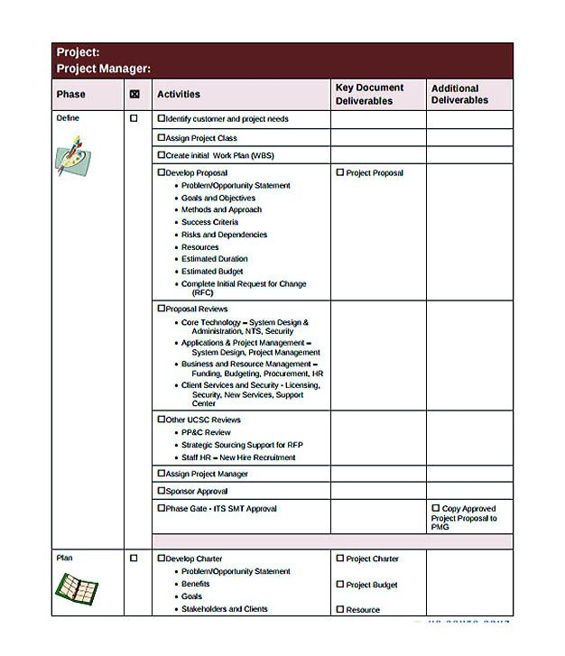 It Project Manager Checklist Template Download  Checklist