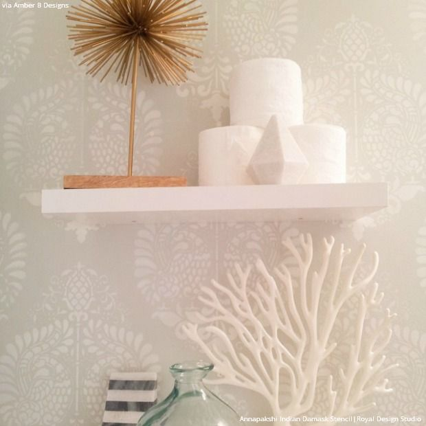 White Decor Trend Wall Stencils and Painted Furniture Furniture