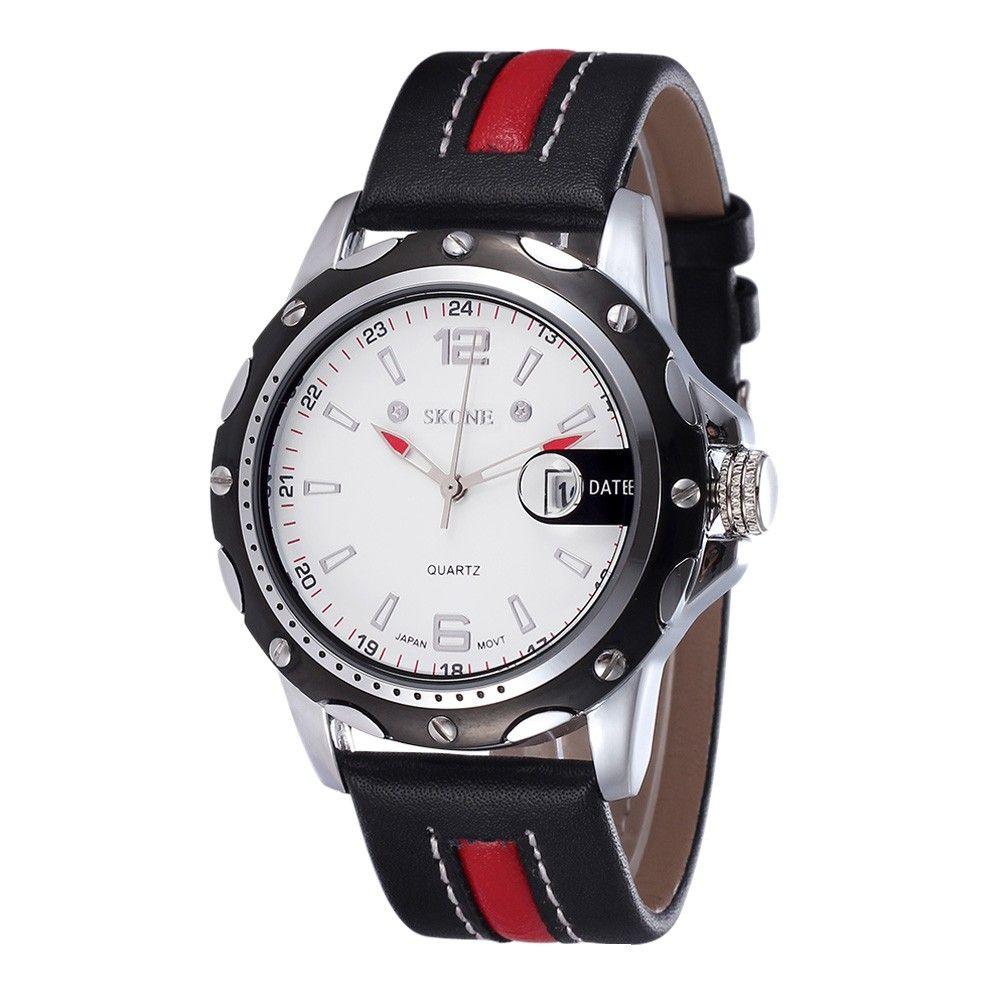 High Quality SKONE Stylish Gorgeous Quartz Watch Waterproof Leather Strap Men…