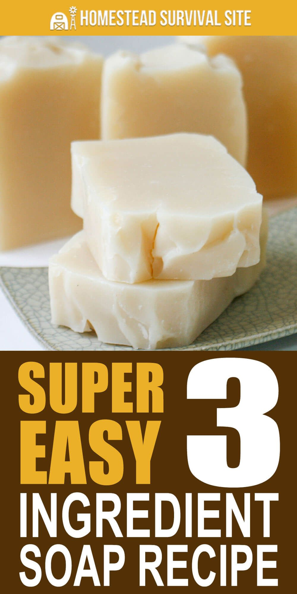 Super Easy 3 Ingredient Soap Recipe Homestead Survival Site Easy Soap Recipes Soap Recipes Cold Process Soap Recipes