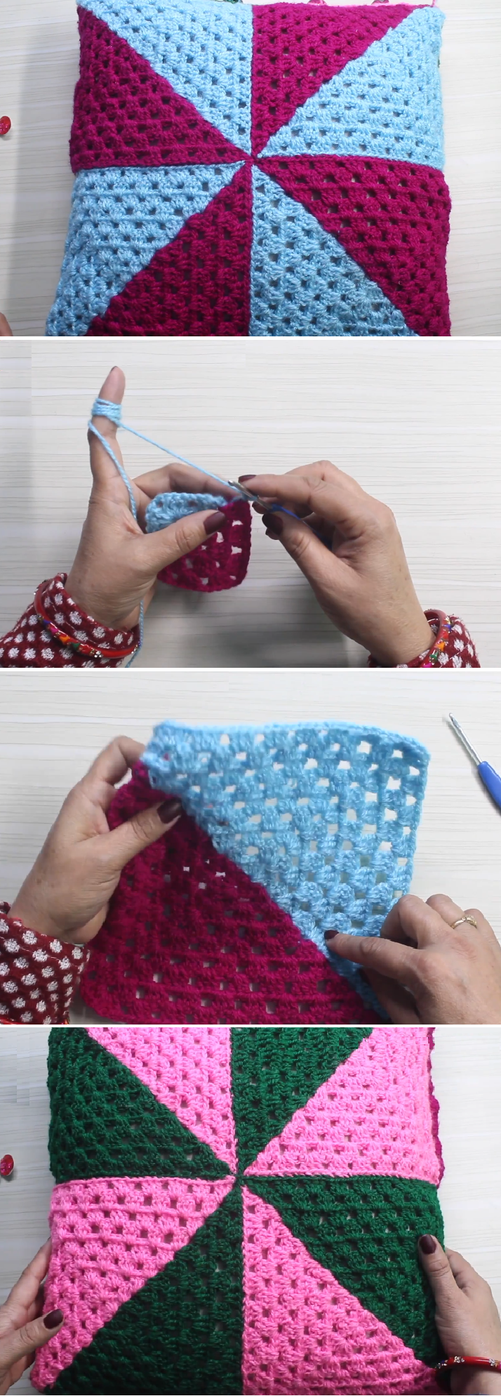 Crochet Pillow Cover Very Fast and Very Easy | гачок | Pinterest ...