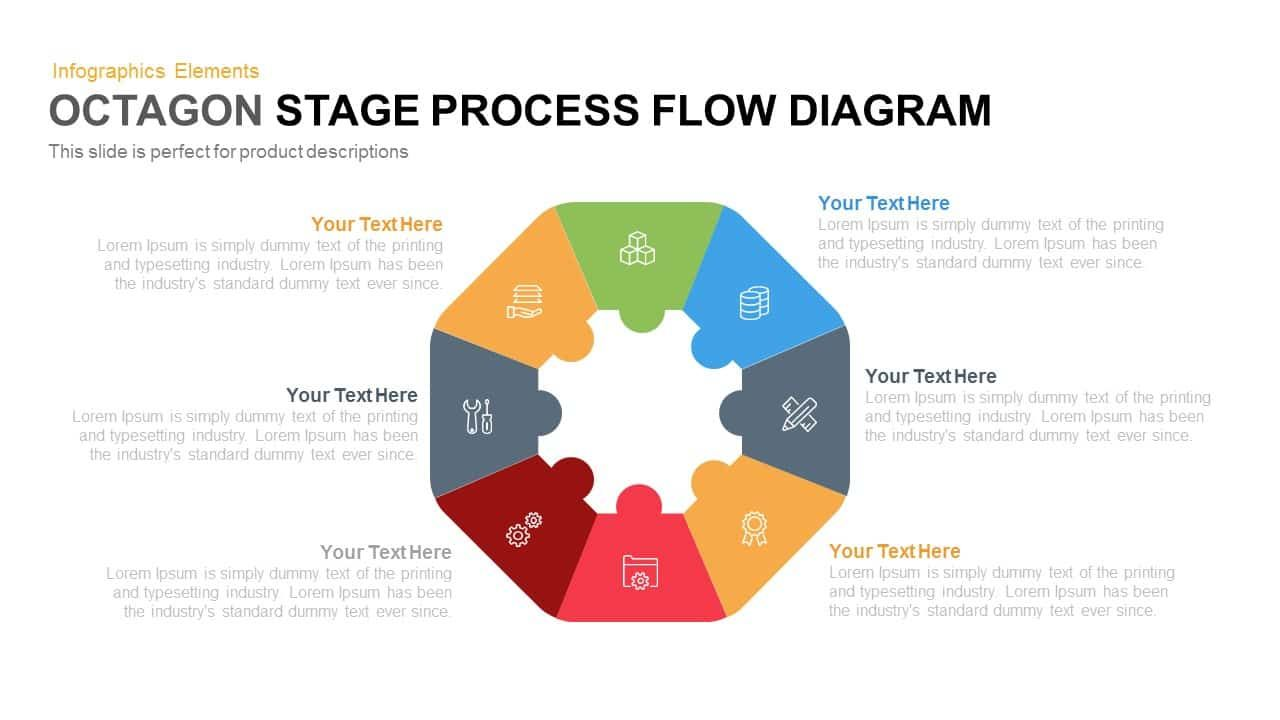 octagon stage process flow diagram process flow diagram infographic powerpoint presentation styles keynote [ 1280 x 720 Pixel ]