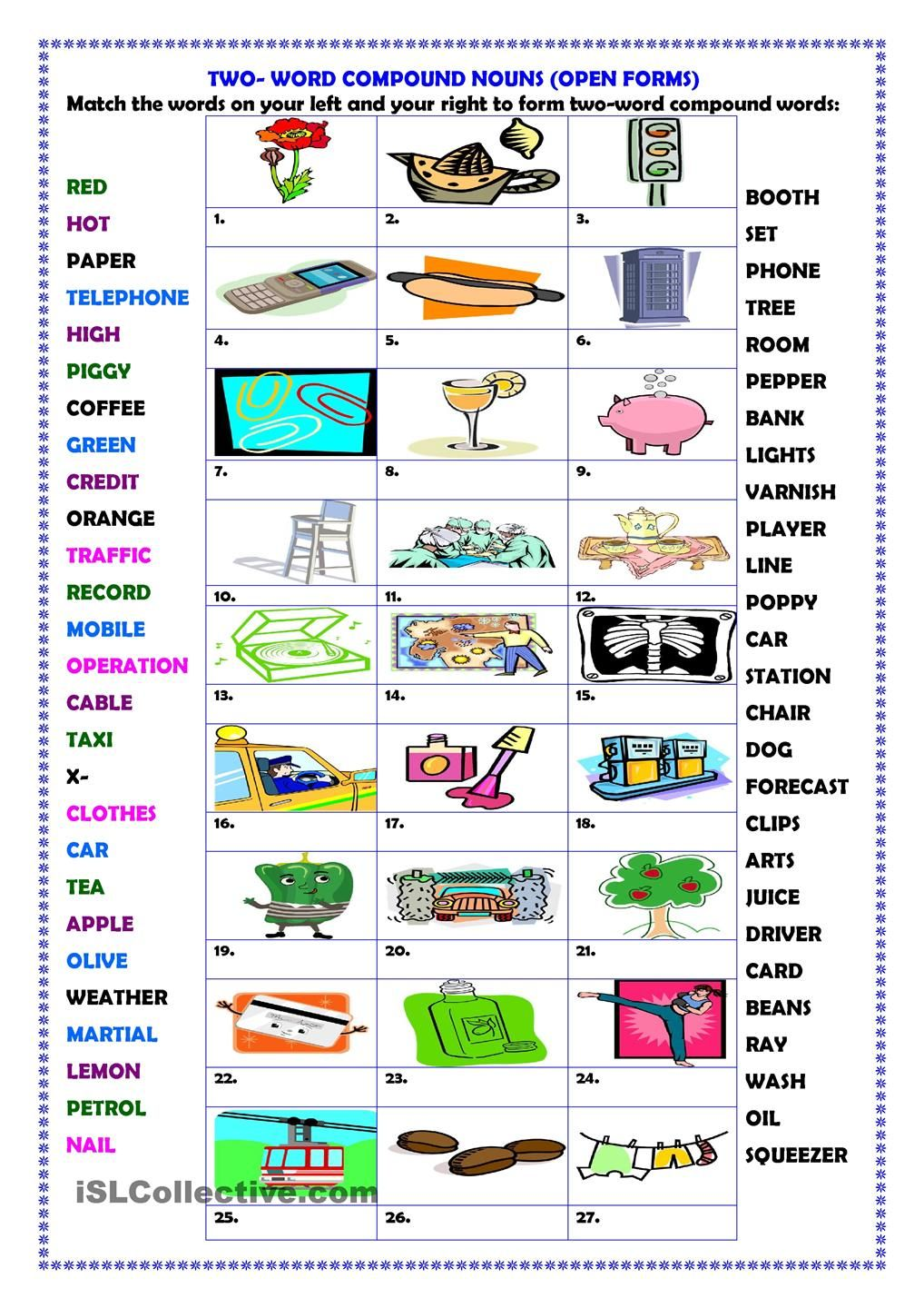 Two Word Compound Words Open Forms Compound Words Compound Words Worksheets Open Compound Words [ 1440 x 1018 Pixel ]