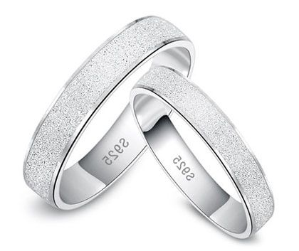 Couples Matching Brushed Wedding Bands Set for Him and Her in