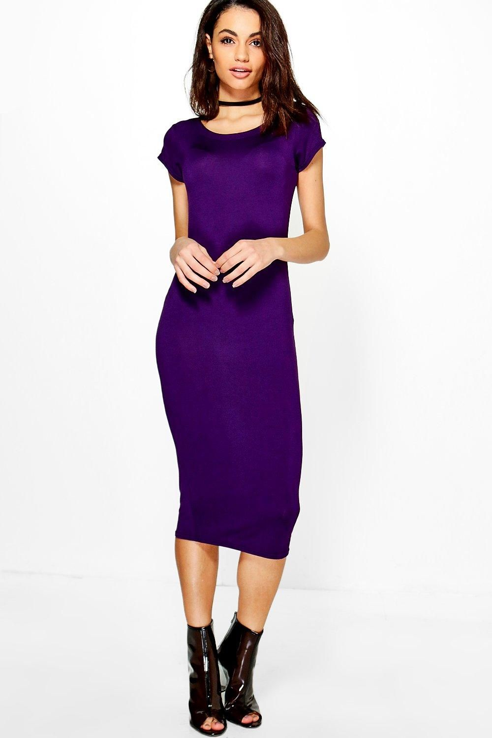 Cara cap sleeve jersey bodycon midi dress seasons dress up and