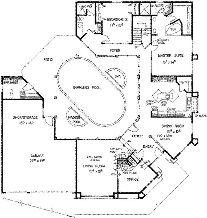 Model Denah Taman Dalam Rumah Rumah Denah Rumah Desain