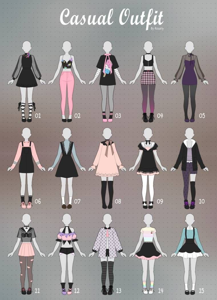 CLOSED) CASUAL Outfit Adopts 23 by Rosariy on DeviantArt in 23