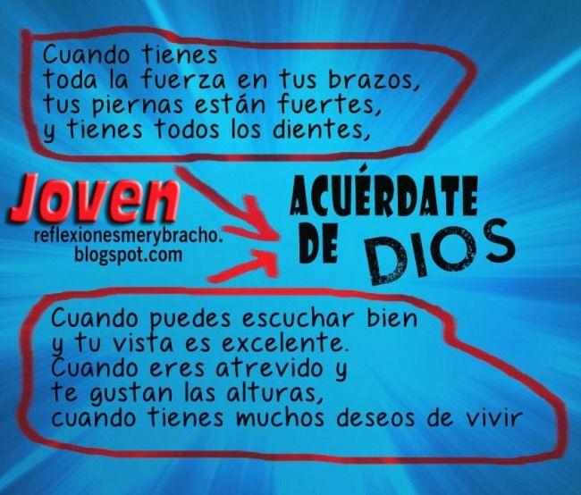 tarjetas cristianas para jovenes | ... el ser joven y tener a Dios ...