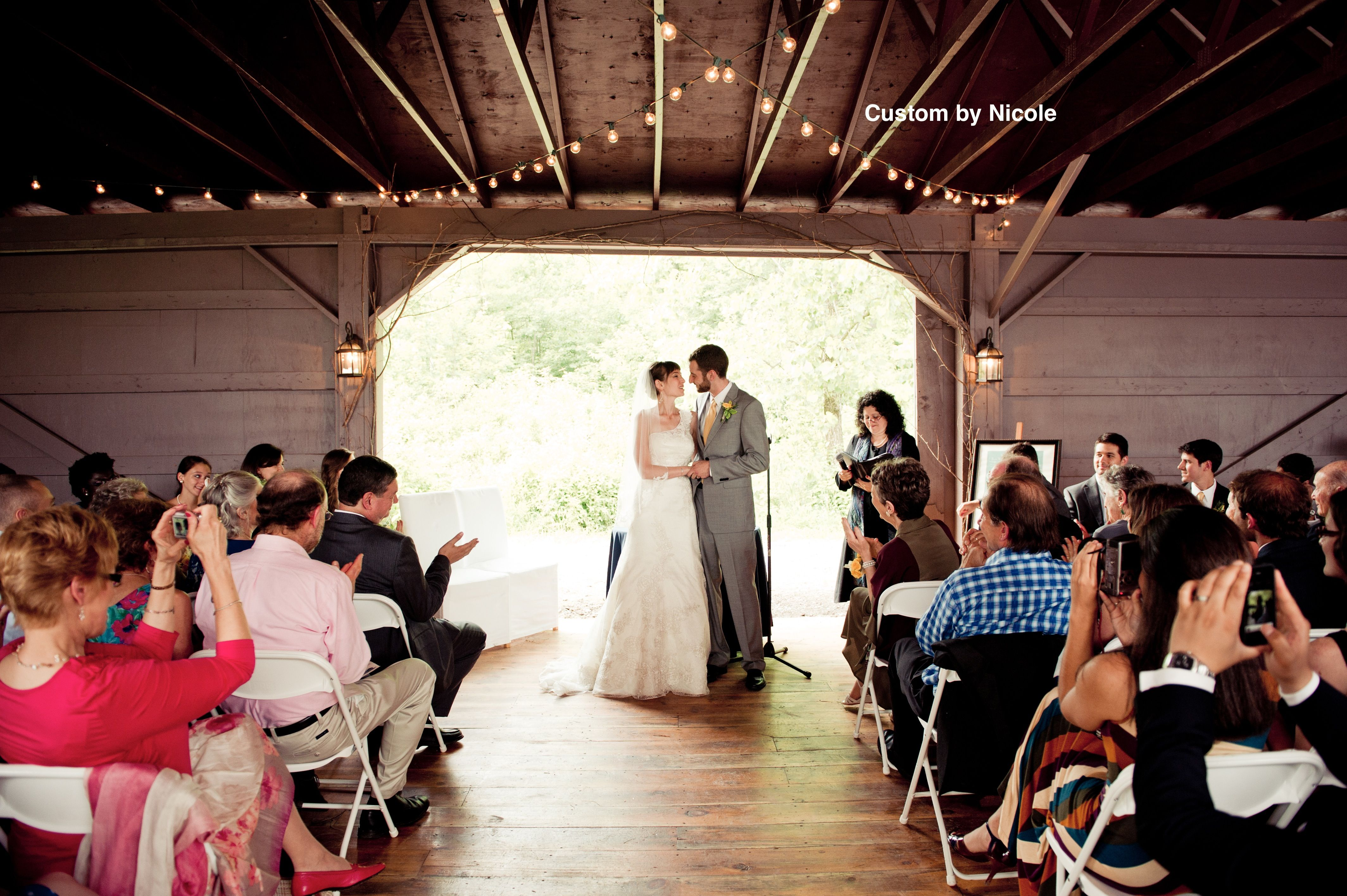 Hudson Valley Barn Wedding Ceremony. The Kaaterskill In