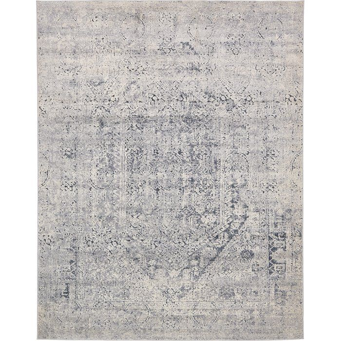 Abbeville Gray Navy Blue Area Rug Cathedral Place Navy