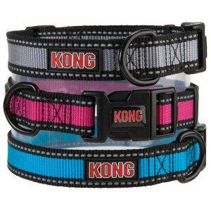 Kong Reflective Dog Collar Medium Blue Details Can Be Found By Clicking On The Image Note It Is Affi Reflective Dog Collars Pet Tags Personalized Dog Collar