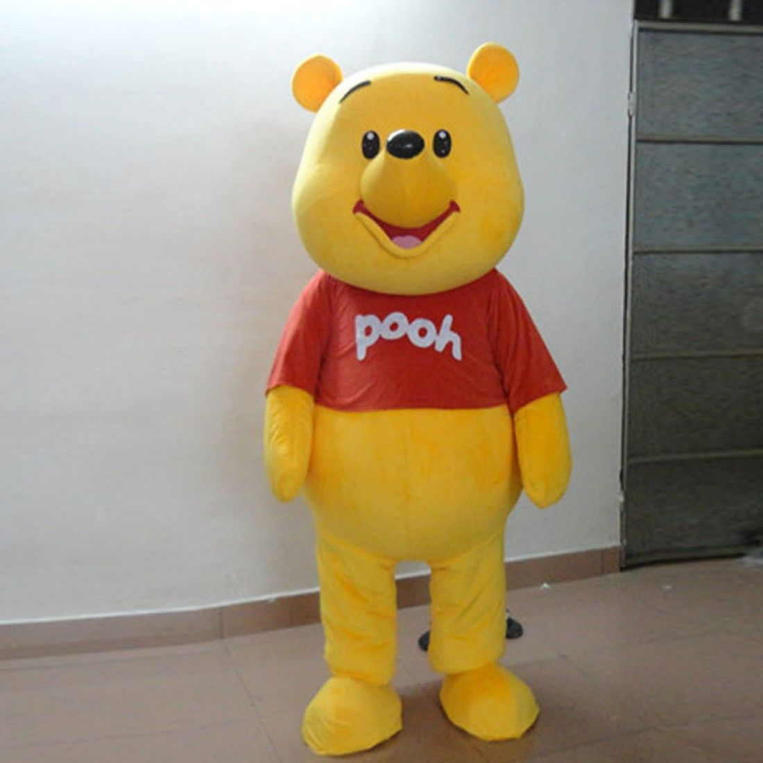 Xmas Winnie the Pooh Mascot Costume Cartoon Bear Outfit Fancy Party Dress Adult