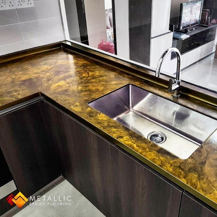 Orange Gold On Coffee Base With Our Matte Finish Create Rejuvenate Or Revamp Your Existing Countertops Into Countertop Design Countertop Remodel Countertops