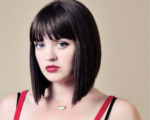 Long Hair Styles With Side Bangs: Choppy A Line Bob With Bangs - Google Search