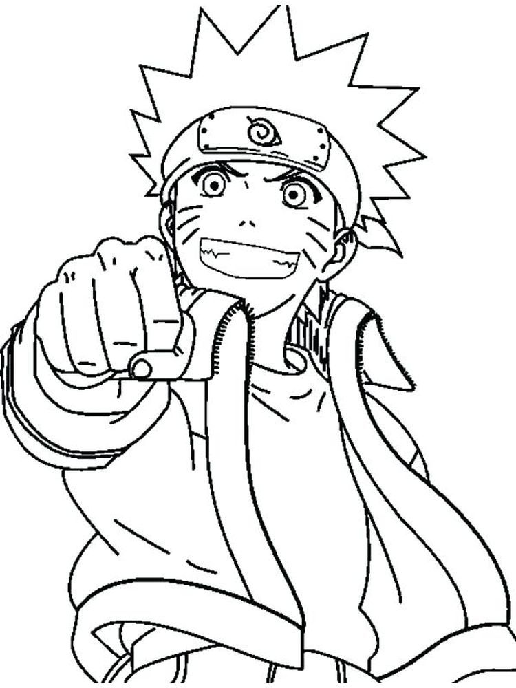 Naruto Coloring Page Cartoon coloring pages, Chibi