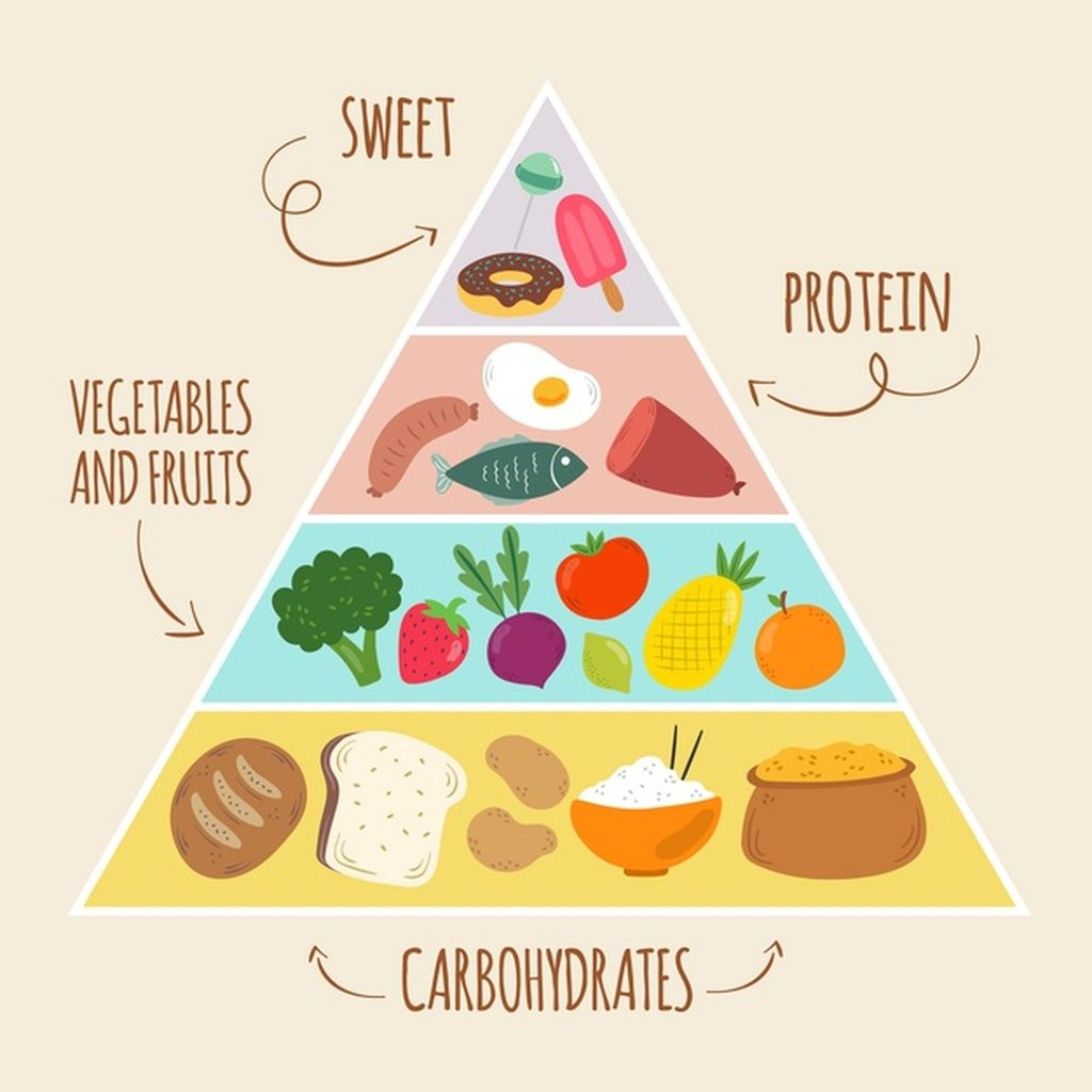 Template Of Food Pyramid Concept Paid Sponsored