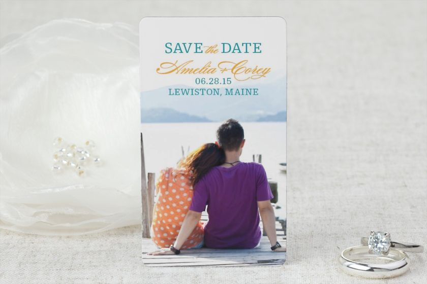 Simply Smitten - Save the Date Magnet by MagnetStreet