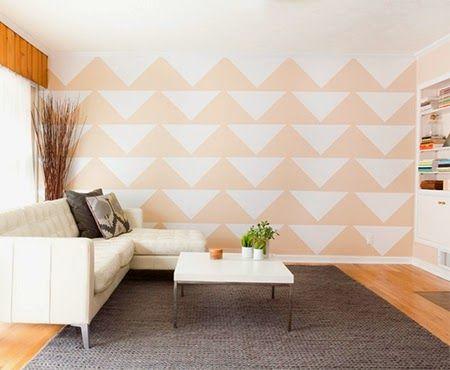 Decorar a parede com papel contact Pinturas decorativas, Papel y