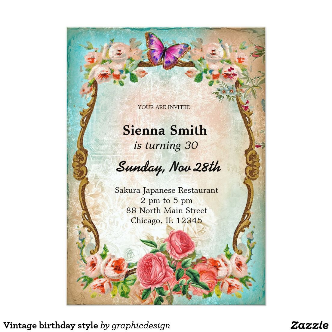 Sold. #Vintage #birthday #invitation available in different designs ...