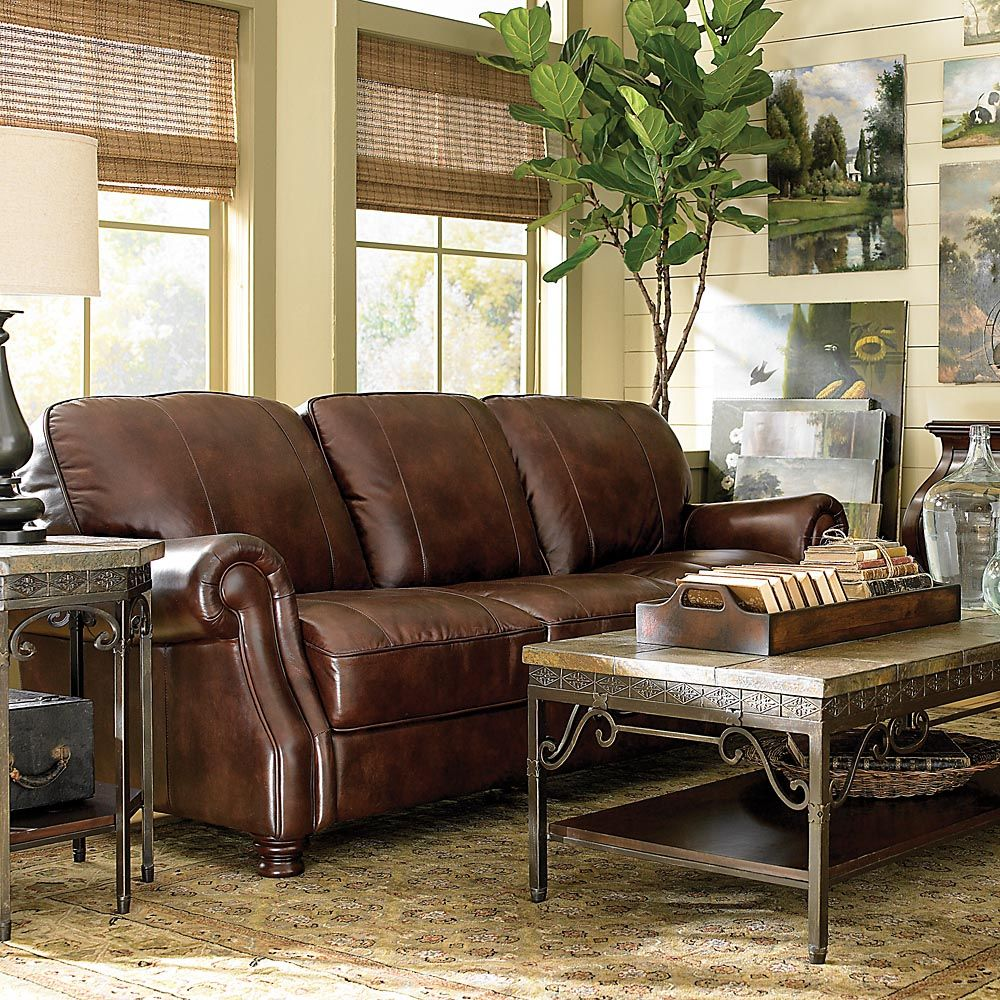 Love The Various Textures - Leather Bradford Sofa From @Becky